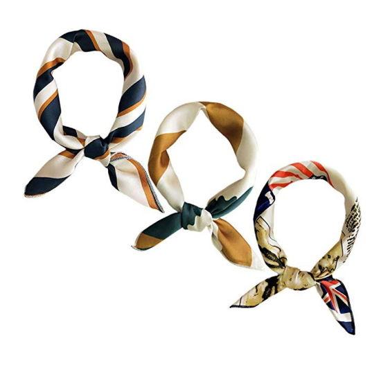 OEM Scarf for Women Stylish Silk Scarves for Bag