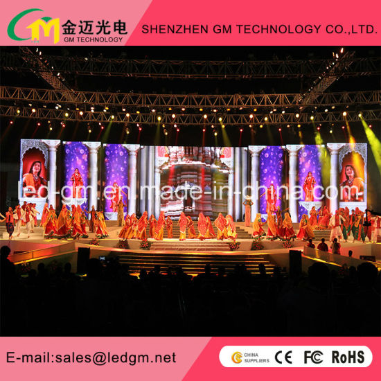 china indoor full color p6 25 die cast aluminum stages led display
