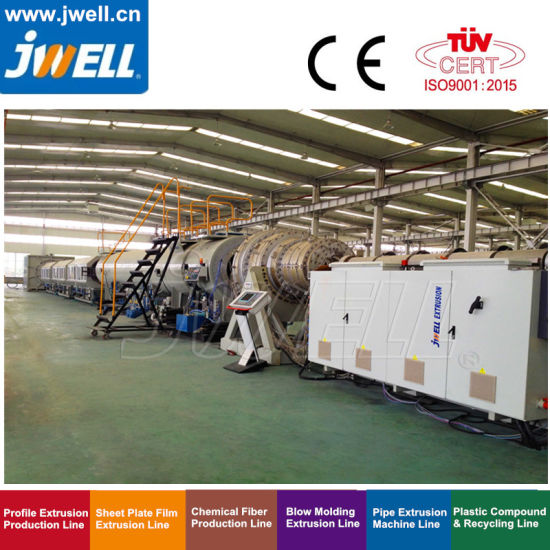 Jwell HDPE PE PP PVC High Speed Low Energy Pipe Extrusion Machine Extruder for Drinking Water, Sewage and Cable Protection