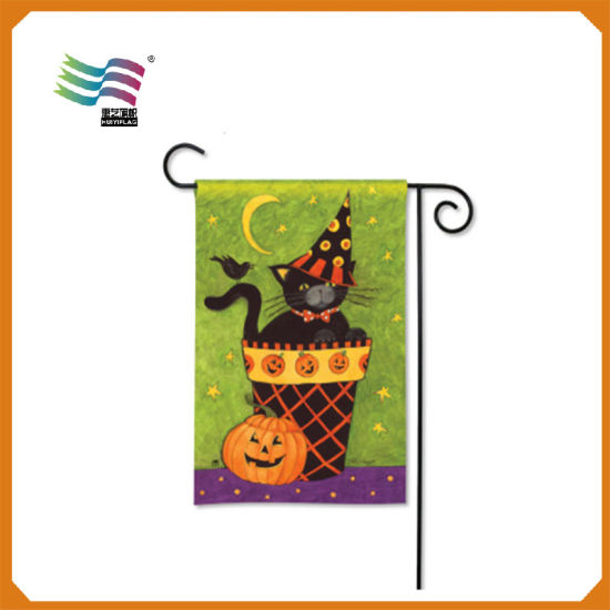High Quality Factory Directly Halloween Garden Flag (HY09124) pictures & photos