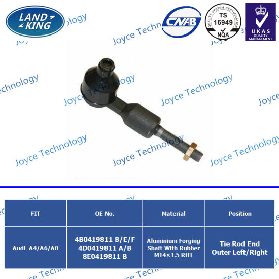 Auto Parts Outer Left Right Tie Rod End Control Arm OE: 4b0419811b/E/F 4D0419811A/B 8e0419811b for Audi A4/A6/A8 pictures & photos