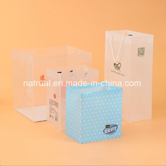 Shopping Plastic Clear PVC Bag with Handle PVC Box