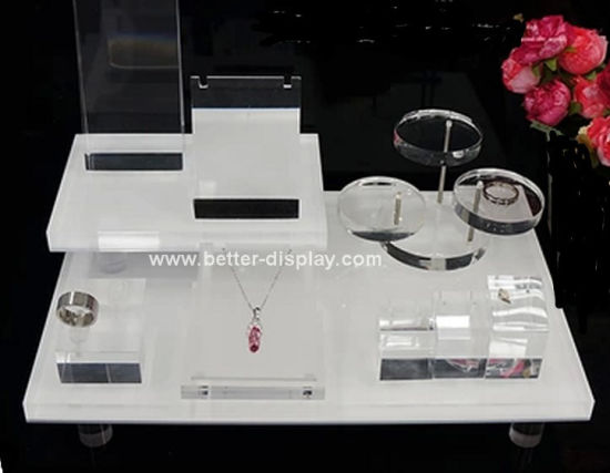 Factory Custom Acrylic Luxury Jewelry Display Furniture