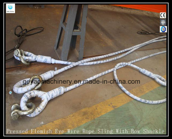 China Single Leg Wire Rope Sling-Cable Laid 7X7X7 - China Wire Rope ...