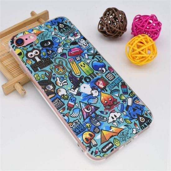 DIY Print TPU Cell Phone Case with Logo Picture OEM Cell Phone Case for iPhone 7 Plus