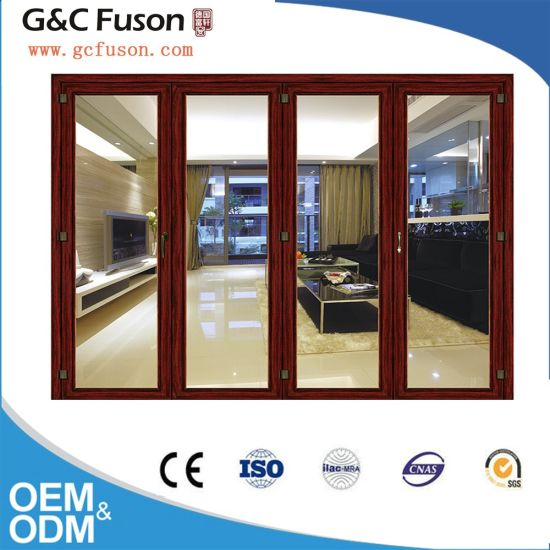 China Top Brand Wood Grain Color Aluminum Glass Sliding Door China