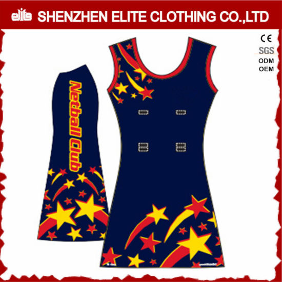 2017 Sexy Wholesale Cheap Women Sublimation Printing Custom Made Netball Dress (ELTNBJ-48) pictures & photos