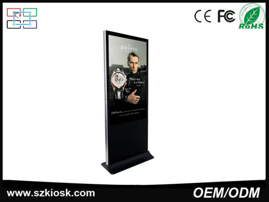 65 Inch Free Standing Advertising LCD Touch Screen Digital Signage Kiosk pictures & photos