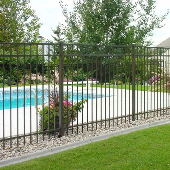 Aluminum and Iron Stainless Steel Garden Pool Metal Fencing and Fence Panel  Guardrail Guard Bar Decorative Customized Residential/Commercia