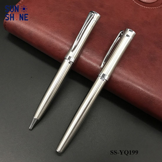 High End Office Stationery Pen Stainless Steel Pens