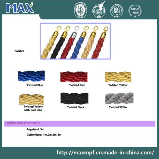 Velvet Ribbon Tape Polypropylene Braided/Twisted Rope for Crowd Control Barrier pictures & photos