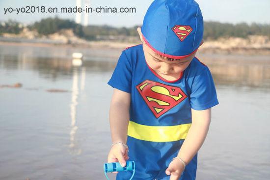 cf14fe7c23 New Children 1PC Superman Design Anti-UV High Soft Kids Dry Quickly Swimwear