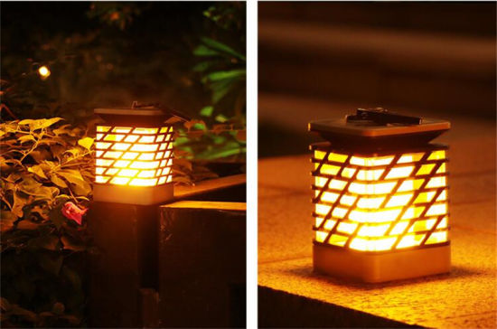 100 Solar Lamp Led Garden Flame Light With Warm Update Decoration