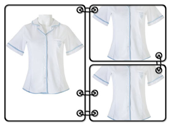 Round Collar Long Sleeve Girls White School Shirts (HY1080) pictures & photos