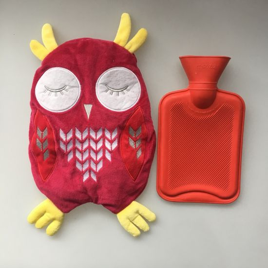 Short Plush Owl Cover with Rubber Hot Water Bottle pictures & photos
