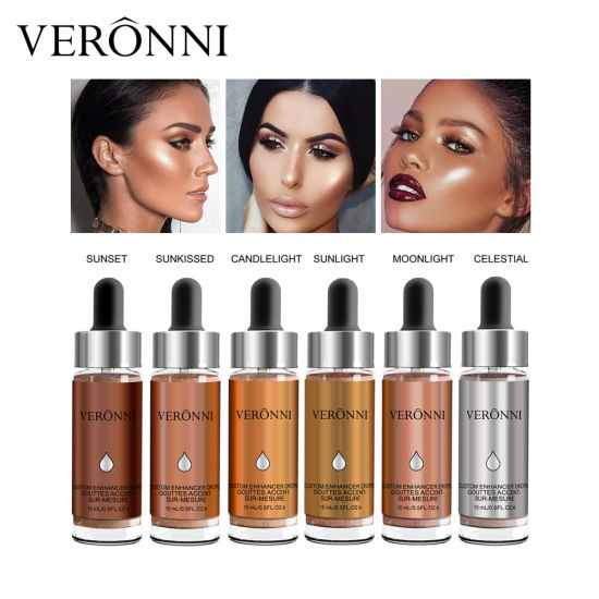 2017 Veronni Newest Makeup Cosmetics Liquid 6 Colors Highlighter pictures & photos