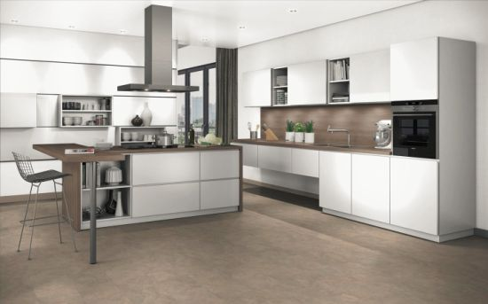 China 2018 Modern Finger Pull Kitchen Cabinet By L 09