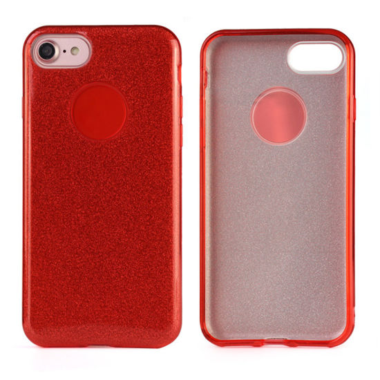 Custom Mobile Phone Accessories Wholesale Glitter Phone Back Cover TPU Case for iPhone 8 X