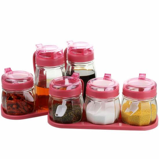 China Kitchen Glass Storage Jar Glass Bottle Jar Kitchenware Jar Set