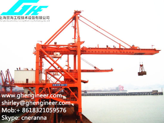 Quayside Ship Grab Unloader for Unloading Iron Ore pictures & photos