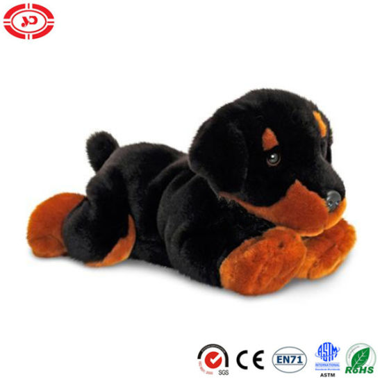 Cute Dog Black Puppy Stuffed Plush House Keeper Fancy Toy