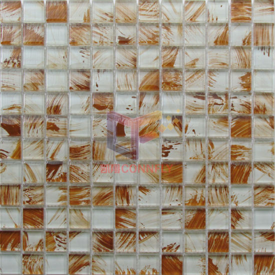 Hand Painting Crystal Glass Mosaic Tiles (CD410) pictures & photos