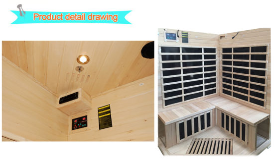 Far Infrared Sauna Room Portable Wooden Sauna (SEK-I3C) pictures & photos