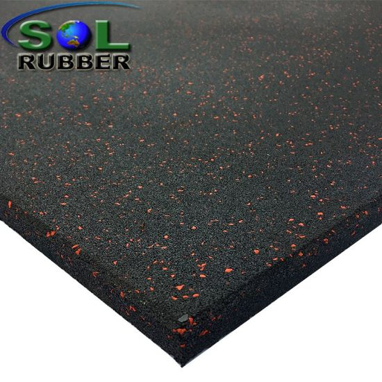 SGS Certificated Gym Rubber Mat Rubber Floor Tile pictures & photos