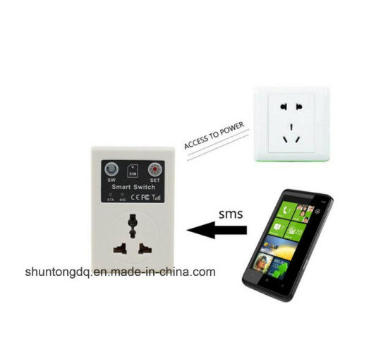 GSM Power Socket Switch Based SIM Card SMS Call Remote Control for Smart Home Automation pictures & photos