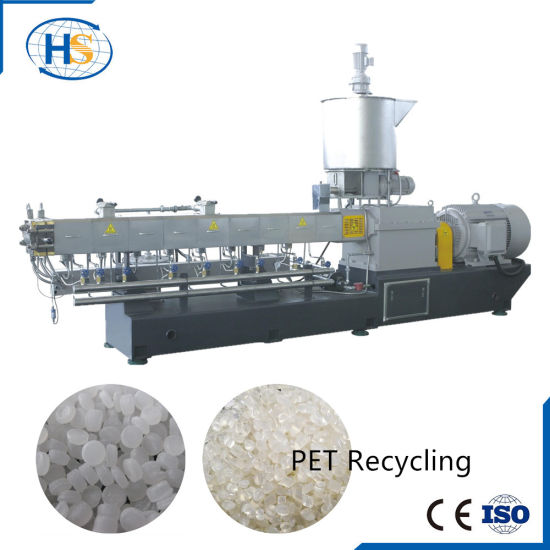 WPC Plastic Granules Extrusion Machine with Air Cooling Line Tse-65 pictures & photos