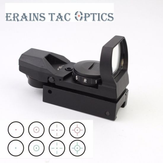 Tactical FM400 4 Variable Reticles Gun Reflex Sight Red DOT with Red Green Illuminating for Hunting Scope