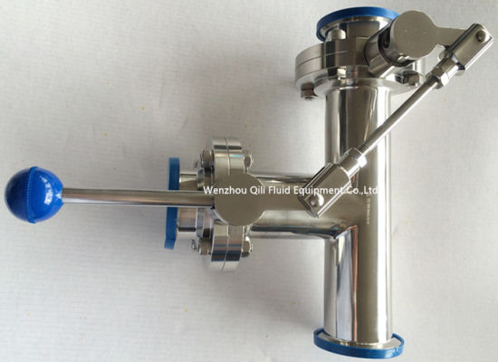 Sanitary Stainless Steel Butterfly Valve Threaded with Tee/Elbow pictures & photos