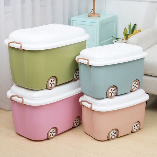 China Latching Handles Plastic Storage Box With Wheels China