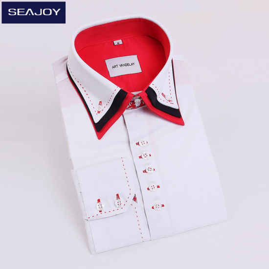 5ba06b6757bc OEM Dress Shirts Long Sleeve Men′s 100% Cotton Shirts White Mens Shirt