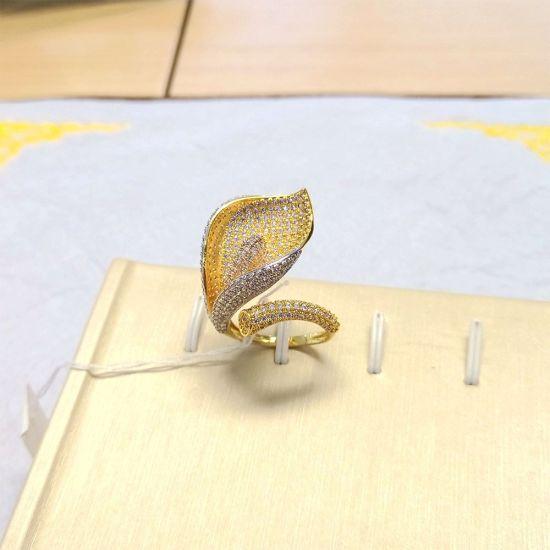 China Fashion Dubai Gold Plated jewellery Wholesale Latest Ring