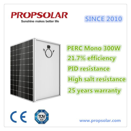 High Efficiency Mono PV Solar Panel Energy Generator 300W with Ce, TUV pictures & photos