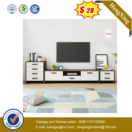 New Living Room Furniture Sets Cheap Price Low Long Black Wood Wooden Media Melamine TV Cupboard (UL-9be108)