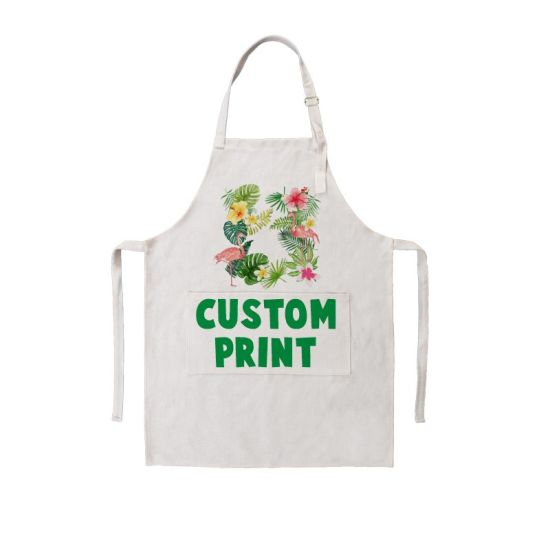 Factory Direct Supply Wholesale Many Printing Style Custom Cotton Linen Apron pictures & photos