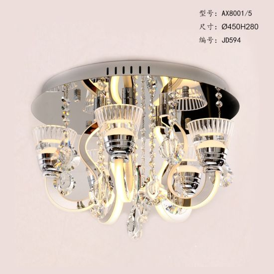 5 Lights LED Chandelier Crystal Pendant Lamp pictures & photos