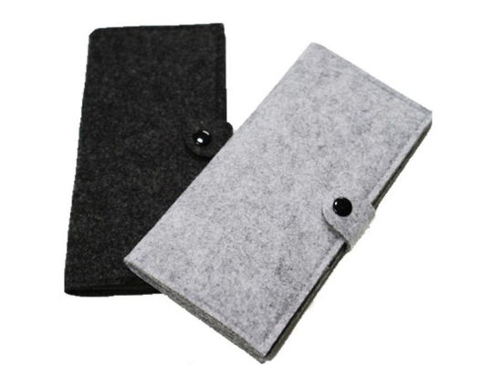 Button Closure Wool Felt Wallets for Men and Women pictures & photos