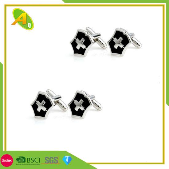 Customized Gift Promotional Decorative Zinc Alloy Metal Cufflink (002)