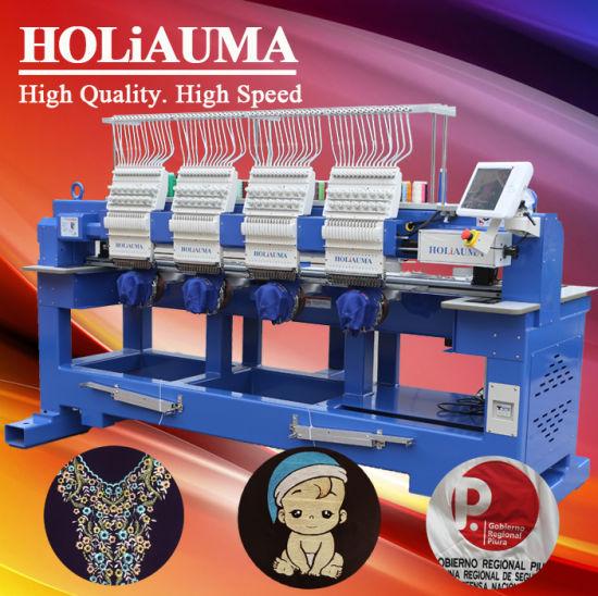 4 Heads High Technology Embroidery Machine Sequin Embroidery Machine Jacket T-Shirt 6 Heads Emberoidery Machine Tajima Type Used