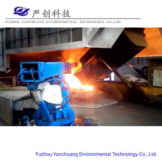 Manipulator Pushing Scrap Steel in 30t Induction Furnace Steelmaking