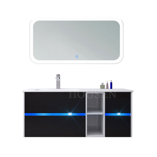 High Quality Bathroom Mirror Vanity Cabinet with Double Sink for Sale
