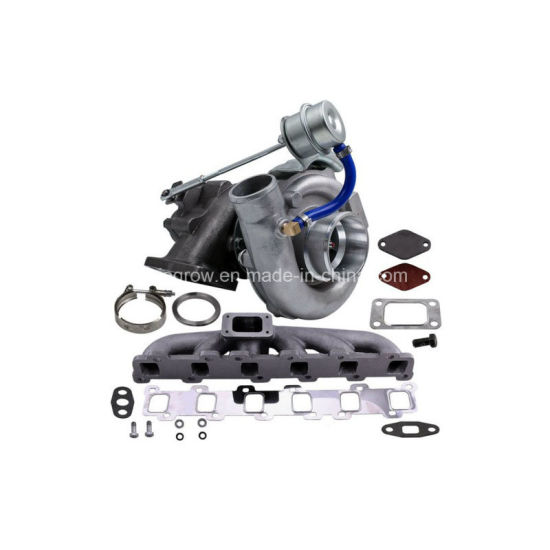 Turbo Manifold Kit for Nissan Patrol Safari Gu Gq Td42 Tb42 T04e T3 T4 63  a/R 55 Trim Turbocharger Compressor 400HP Stage III