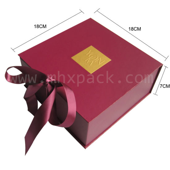 Luxury Folding Paper Gift Packaging Box with Ribbon