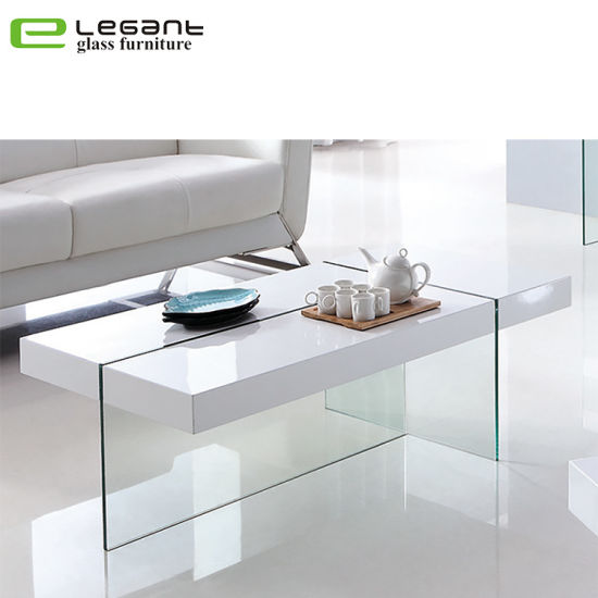 China Curved Gl Coffee Table With