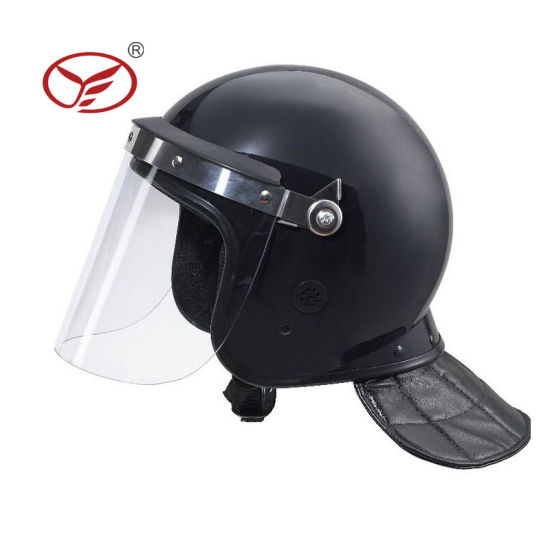 Police Professional Anti Riot Helmet with Vision Flat Lens