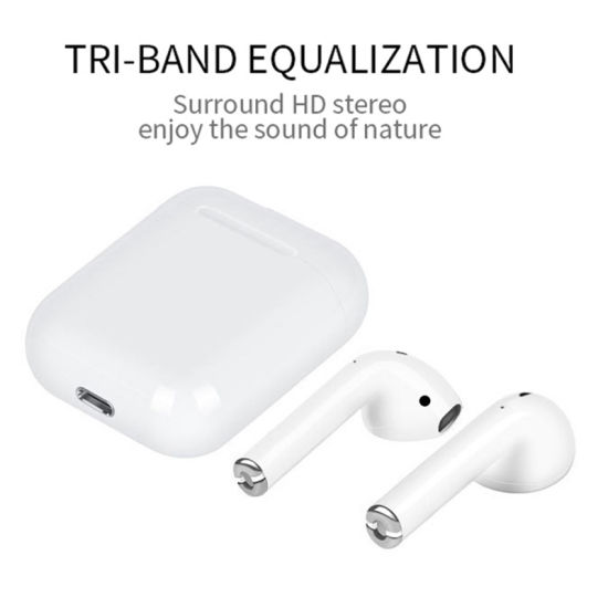 Wireless Bluetooth 5 0 Earphone Tws I12 Touch Control Earbuds Pop-up Touch  Sensor Control Volume
