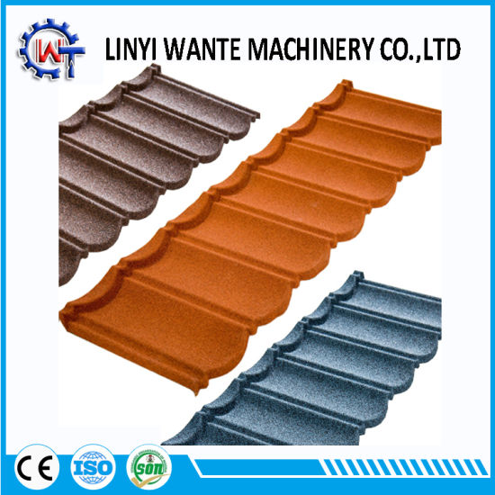Construction Material Zinc Sheet Stone Coated Metal Bond Roof Tile Pictures Photos